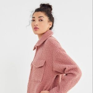 Urban Outfitters Mauve Teddy Jacket